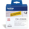 Brother DK-22606 Label Rolls 62mmx15.24m Black on Yellow Adhesive Film