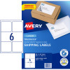 Avery Shipping Laser Labels L7166 99.1x93.1mm White 600 Labels, 100 Sheets
