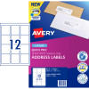 Avery Quick Peel Address Laser Labels L7164 63.5x72mm White Pack of 100 (1200)