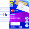 Avery Quick Peel Address Laser Labels L7162 99.1x34.2mm White Pack of 100 (1600)