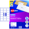 Avery Quick Peel Address Laser Labels L7161 63.5x46.6mm White 1800 Labels, 100 Sheets