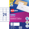 Avery Quick Peel Address Laser Labels L7159 64x33.8mm White 2400 Labels, 100 Sheets