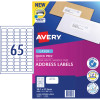 Avery Quick Peel Address Laser Labels L7651 38.1x21.2mm White 6500 Labels, 100 Sheets