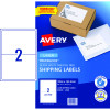 Avery Shipping Laser Labels L7168 199.1x143.5mm White 50 Labels, 25 Sheets