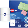 Avery Shipping Laser Labels L7566 199.1x143.5mm Crystal Clear 50 Labels, 25 Sheets