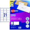 Avery Quick Peel Address Laser Labels L7160 63.5x38.1mm White Pack of 20 (420)