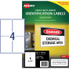 Avery Heavy Duty Laser Labels L7069 99.1x139mm White 100 Labels, 25 Sheets