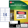 Avery Heavy Duty Laser Labels L7063 99.1x38.1mm White 350 Labels, 25 Sheets