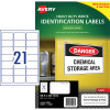 Avery Heavy Duty Laser Labels L7060 63.5x38.1mm White 525 Labels, 25 Sheets