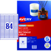 Avery Multi-Purpose Laser & Inkjet Labels L7656 46x11.11mm White 2100 Labels, 25 Sheets