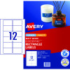 Avery Multi-Purpose Laser & Inkjet Labels L7671 76.2x46.4 White 300 Labels, 25 Sheets