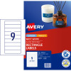 Avery Multi-Purpose Laser & Inkjet Labels L7667 133x29.61m White 225 Labels, 25 Sheets