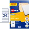 Avery Filing Laser & Inkjet Labels L7170 134x11mm 600 Labels, 25 Sheets