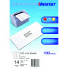 UNISTAT LASER/INKJET LABELS Copier 14UP 98x38mm Box of 100