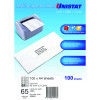 Unistat Laser Copier & Inkjet  Labels 38.1x21.2mm 6500 Labels, 100 Sheets