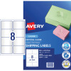 Avery Quick Peel Address Laser Labels L7565 99.1x67.7 Crystal Clear 200 Labels, 25 Sheets