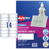 Avery Quick Peel Address Laser Labels L7563 99.1x38mm Crystal Clear 350 Labels, 25 Sheets