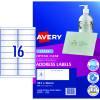 Avery Quick Peel Address Laser Labels L7562 99.1x33.9 Crystal Clear 400 Labels, 25 Sheets