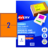 Avery High Visibility Shipping Laser Labels L7168FO 199.6x 143.5 Orange 20 Label 10 Sheet