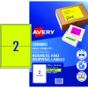 Avery High Visibility Shipping Laser Labels L7168FY 199.6x 143.5 Yellow 20 Label 10 Sheet