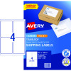 Avery Internet Shipping Laser & Inkjet Labels L7169 99.1x 139 White 40 Labels, 10 Sheets