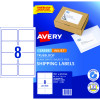 Avery Internet Shipping Laser & Inkjet Labels L7165  99.1x 67.7 White 80 Labels 10 Sheets