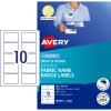 Avery Fabric Print & Divide Name Badge Laser Labels L7427 88x52mm 150 Labels, 15 Sheets