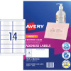 Avery Quick Peel Address Laser Inkjet Labels J8563 99.1x38.1 Clear 350 Labels, 25 Sheets