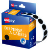 Avery Removable Dispenser Labels 14mm Round Black Pack of 1050