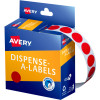 AVERY DMC14R DISPENSER LABEL Circle 14mm Red Pack of 1050