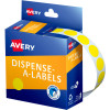AVERY DMC14Y DISPENSER LABEL Circle 14mm Yellow Pack of 1050