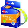 Avery Removable Dispenser Labels 14mm Round Fluoro Yellow Pack of 700