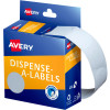 AVERY DMC24W DISPENSER LABEL Circle 24mm White Pack of 550
