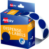 Avery Removable Dispenser Labels 24mm Round Blue  Pack of 500