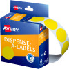 AVERY DMC24Y DISPENSER LABEL Circle 24mm Yellow Pack of 500