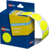 AVERY DMC24FY DISPENSER LABEL Circle 24mm Fluro Yellow Pack of 350