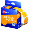 Avery Removable Dispenser Labels 24mm Round Fluoro Orange Pack of 350