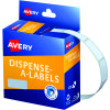 Avery Removable Dispenser Labels 10x24mm Rectangle White Pack of 1200