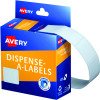 Avery Removable Dispenser Labels 19x24mm Rectangle White Pack of 650