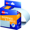 Avery Removable Dispenser Labels 76x27mm Rectangle White Pack of 180