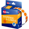 AVERY DMC14O DISPENSER LABEL Circle 14mm Orange Pack of 1050