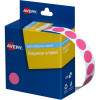 AVERY DMC14P DISPENSER LABEL Circle 14mm Pink Pack of 1050