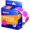 AVERY DMC24P DISPENSER LABEL Circle 24mm Pink Pack of 500
