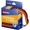 Avery Removable Dispenser Labels 19x64mm Final Notice Red Pack of 125