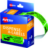 Avery Removable Dispenser Labels 19x64mm Friendly Reminder Green Pack of 125