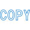 XSTAMPER -1 COLOUR -TITLES A-C 1006 Copy Blue