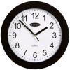Carven Wall Clock 250mm Diam Black Frame