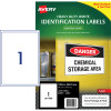Avery Industrial Laser Labels L7067 199.6x289.1mm White 10 Labels, 10 Sheets