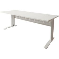 Rapid Span Open Straight Desk 1200Wx700mmD Modesty Panel With White Top & White Steel Frame
