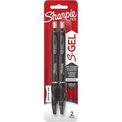 Sharpie Gel Pen Retractable 0.7mm Black Pack of 2